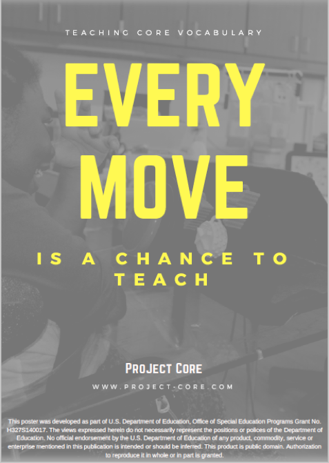 every move is a chance to teach poster